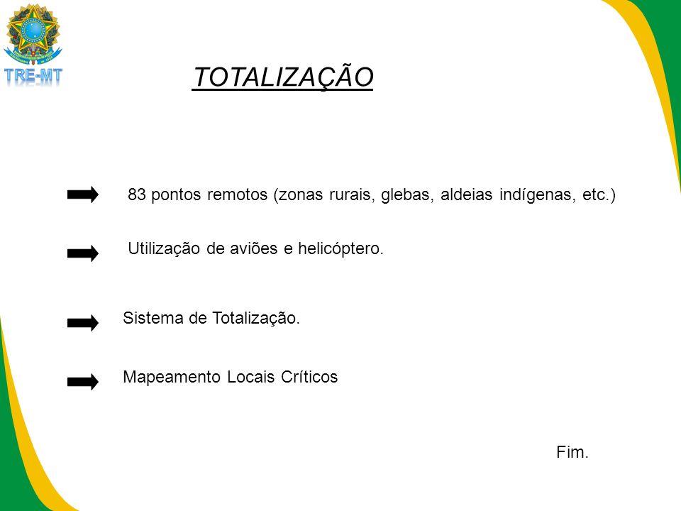 Mapeamento Locais Críticos Sistema de Totalização.