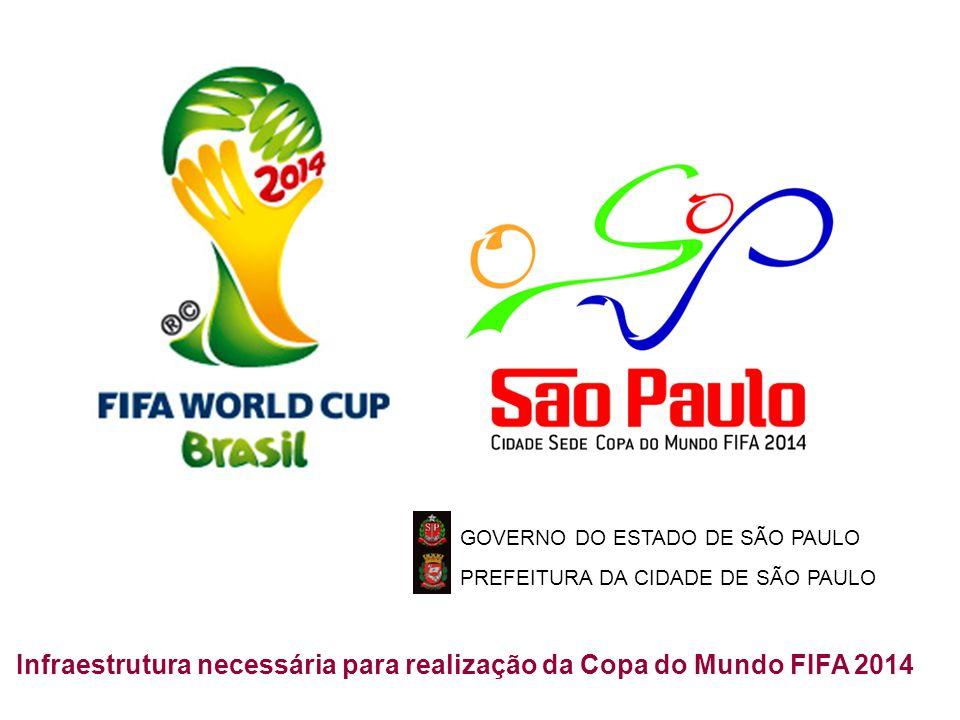 TM GOVERNO DO ESTADO DE SÃO PAULO PREFEITURA DA CIDADE DE SÃO PAULO Infraestrutura necessária para realização da Copa do Mundo FIFA 2014