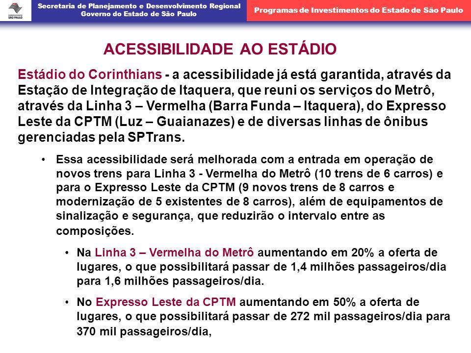 Estádio do Corinthians - a acessibilidade já está garantida, através da Estação de Integração de Itaquera, que reuni os serviços do Metrô, através da