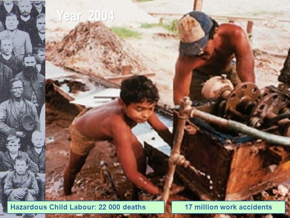 Year 2004 Hazardous Child Labour: 22 000 deaths17 million work accidents