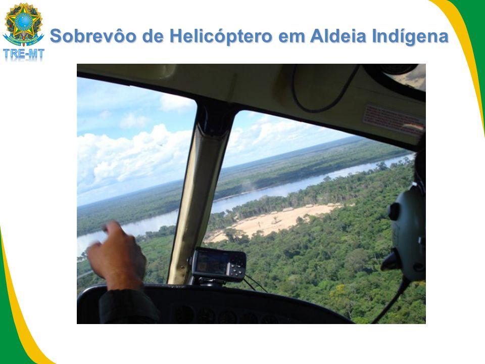 Sobrevôo de Helicóptero em Aldeia Indígena