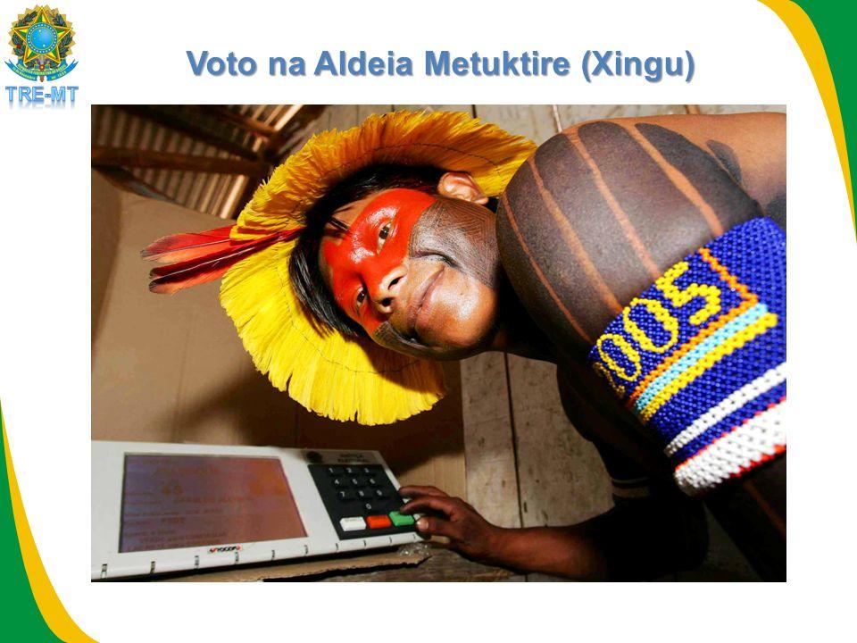 Voto na Aldeia Metuktire (Xingu)