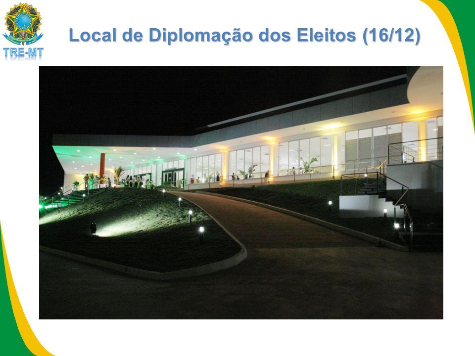 Local de Diplomação dos Eleitos (16/12)