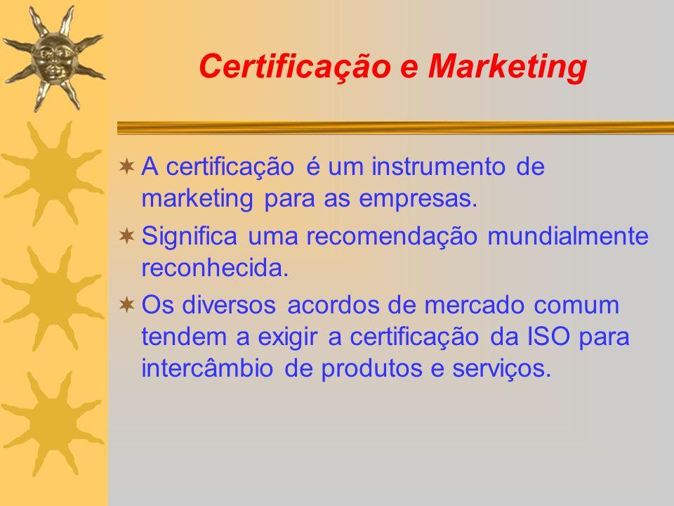 Certificação e Marketing A certificação é um instrumento de marketing para as empresas. Significa uma recomendação mundialmente reconhecida. Os divers