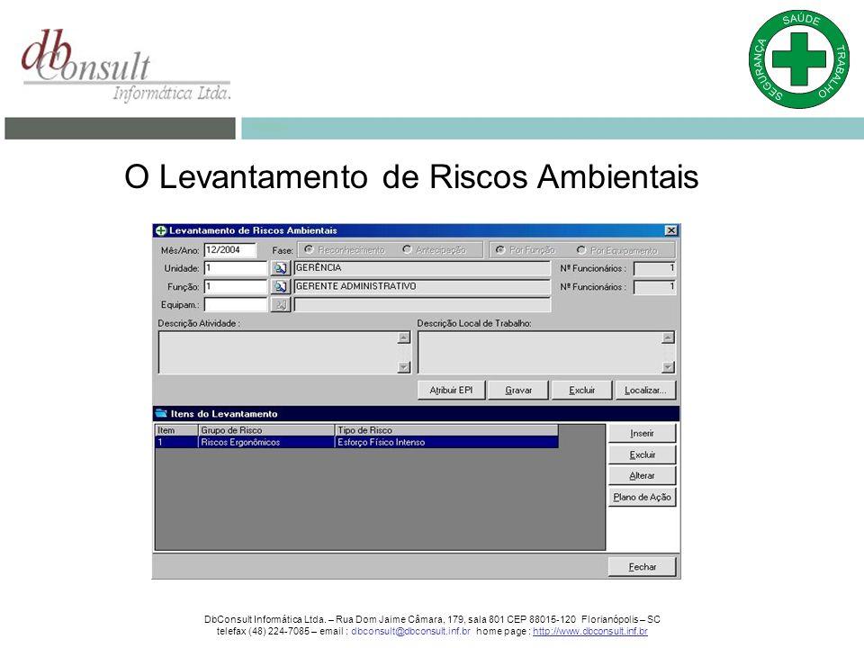 O Levantamento de Riscos Ambientais DbConsult Informática Ltda.