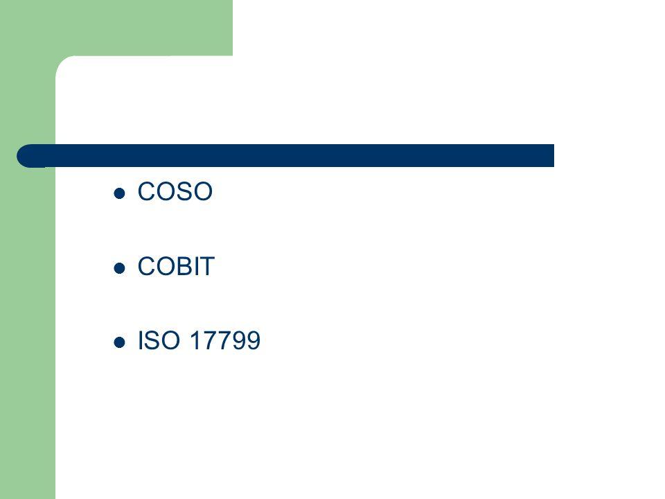 COSO COBIT ISO 17799