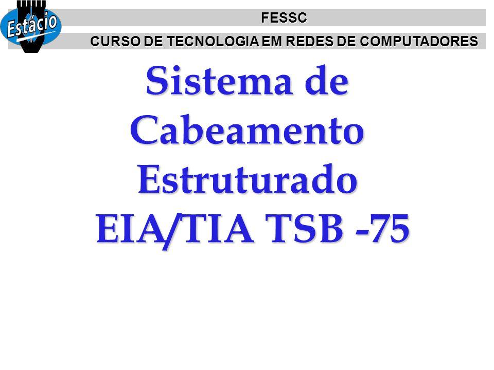 Sistema de Cabeamento Estruturado EIA/TIA TSB -75 FESSC CURSO DE TECNOLOGIA EM REDES DE COMPUTADORES
