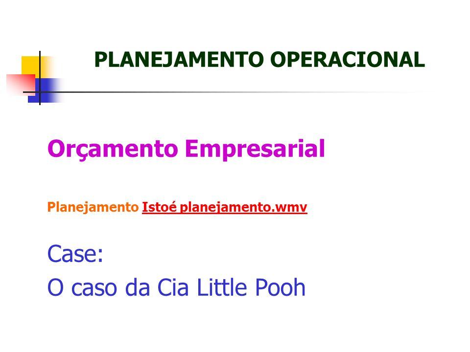 Orçamento Empresarial Planejamento Istoé planejamento.wmvIstoé planejamento.wmv Case: O caso da Cia Little Pooh PLANEJAMENTO OPERACIONAL