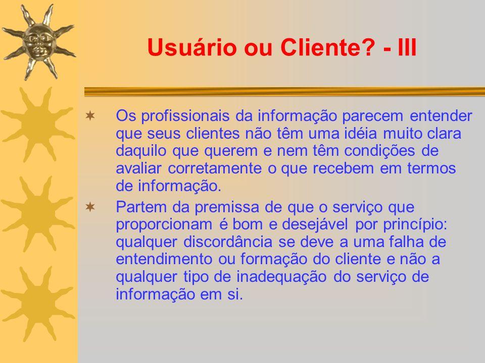 Usuário ou Cliente.