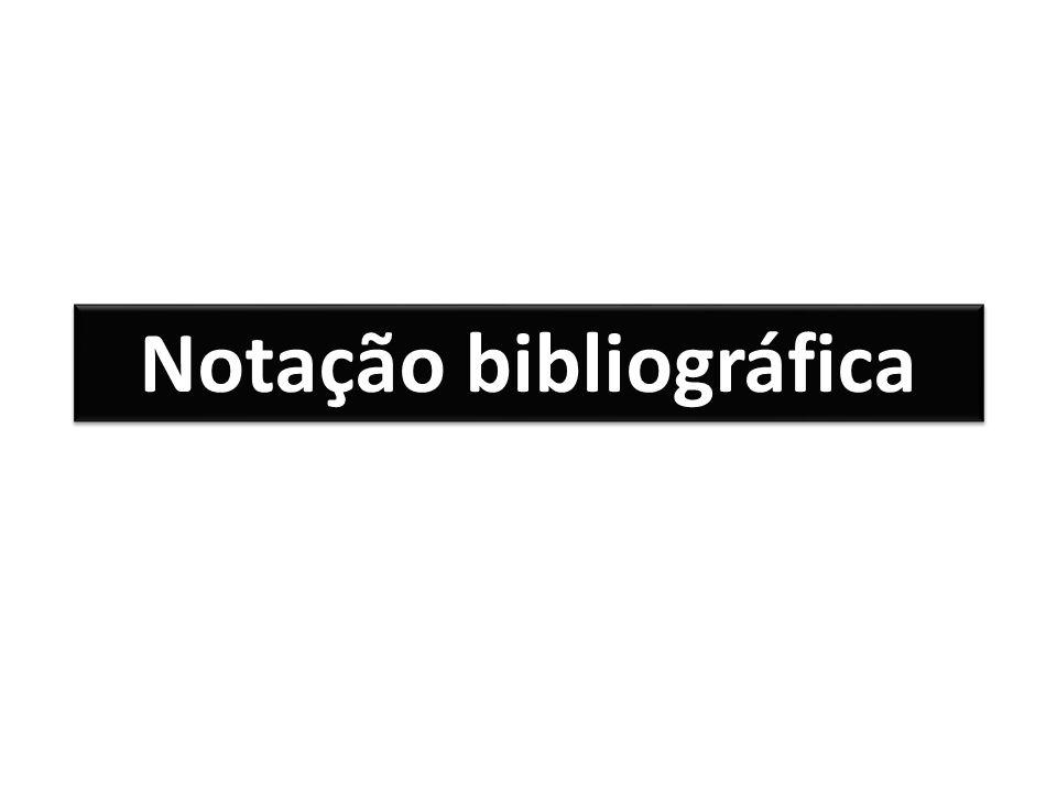 Notação bibliográfica
