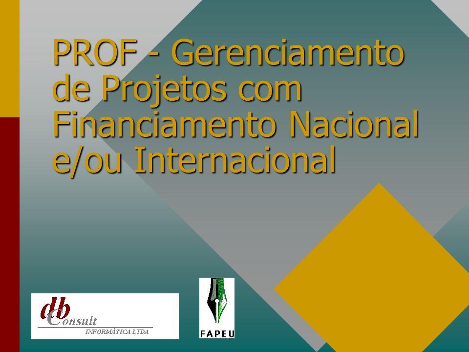 Cronograma Financeiro de Projetos. Definição das parcelas e Itens apoiados.