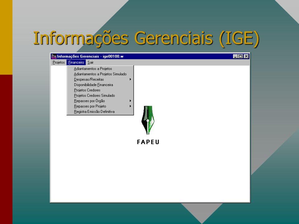 TABELAS Permite a manutenção constante das tabelas previstas no sistema.Permite a manutenção constante das tabelas previstas no sistema.