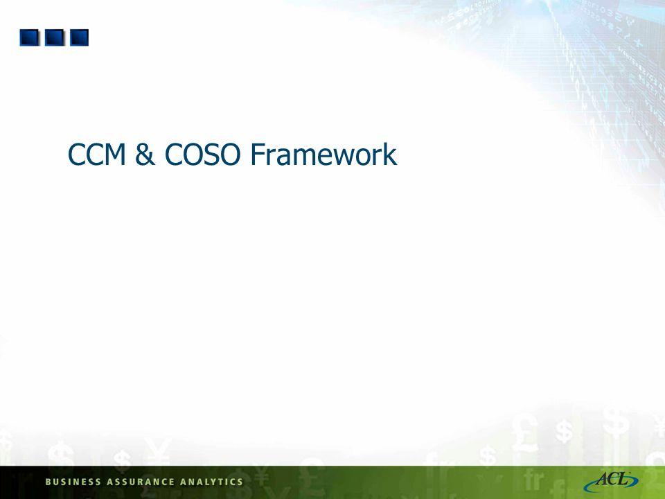CCM & COSO Framework