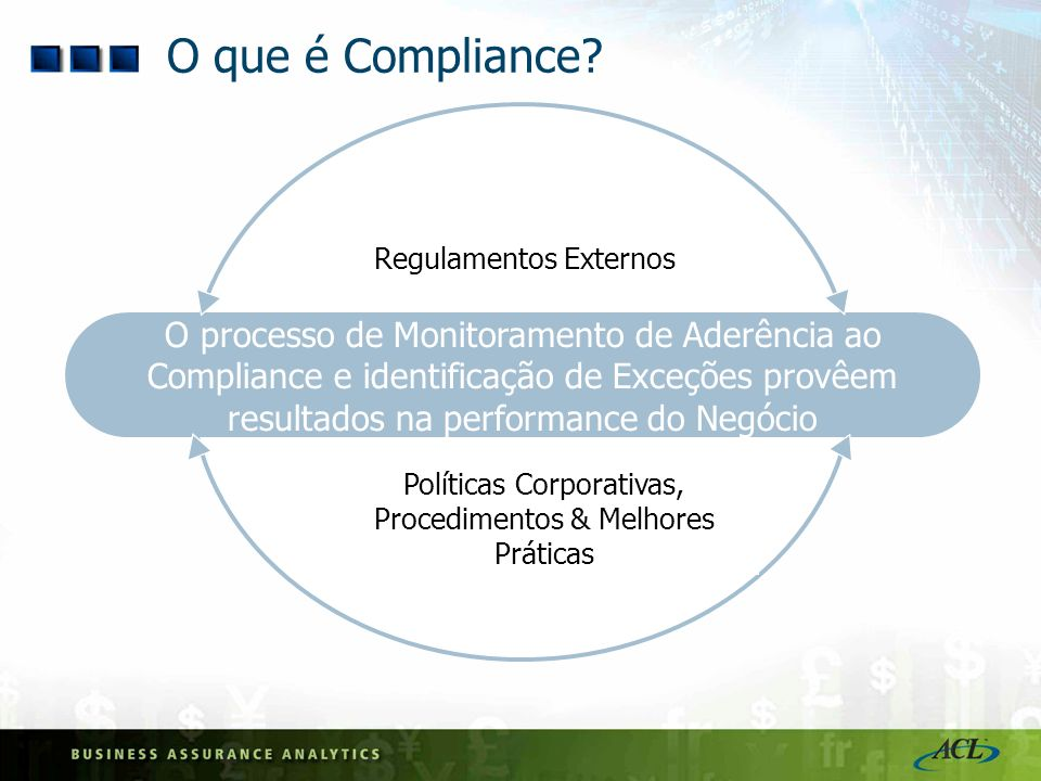 CFO Quarterly & Annual signoff on corporate financial statements Internal Control Frameworks needed On compliance monitoring Effective external Auditor interaction Quem é responsável pelo Compliance.