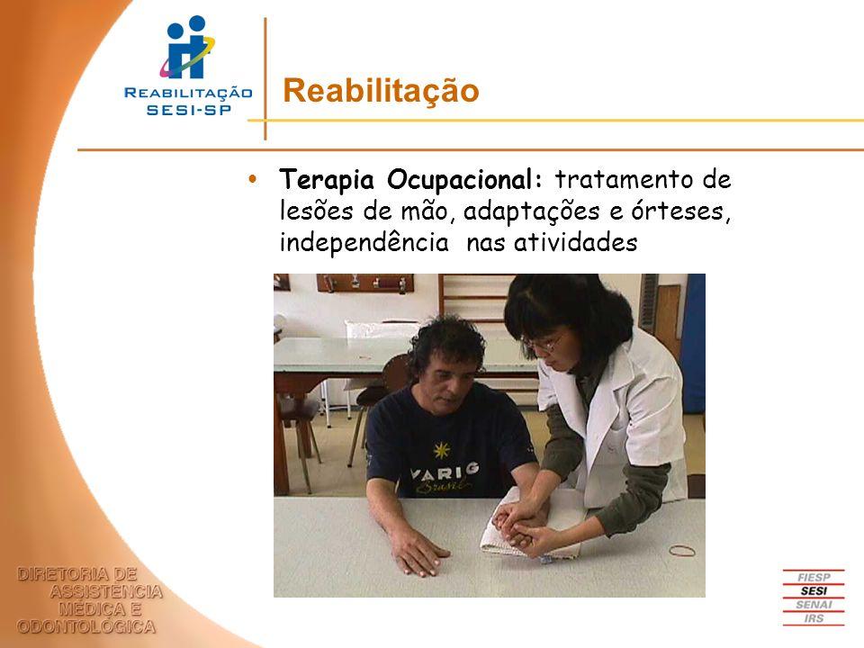 Terapia Ocupacional: tratamento de lesões de mão, adaptações e órteses, independência nas atividades Reabilitação