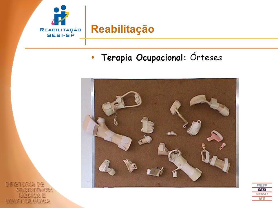 Terapia Ocupacional: Órteses Reabilitação