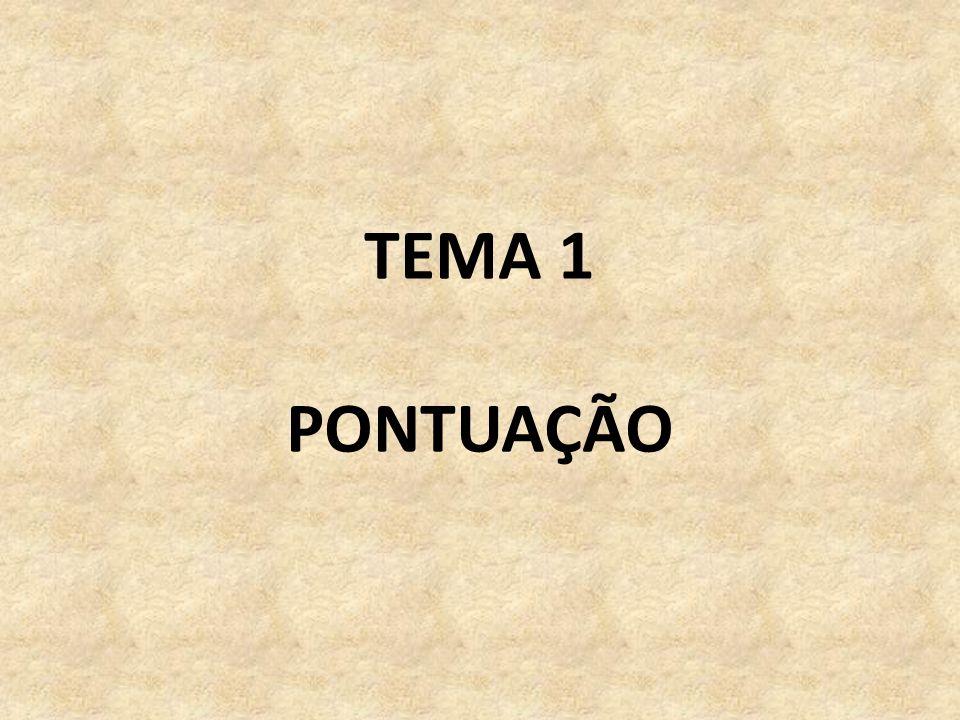 TEMA 1 PONTUAÇÃO