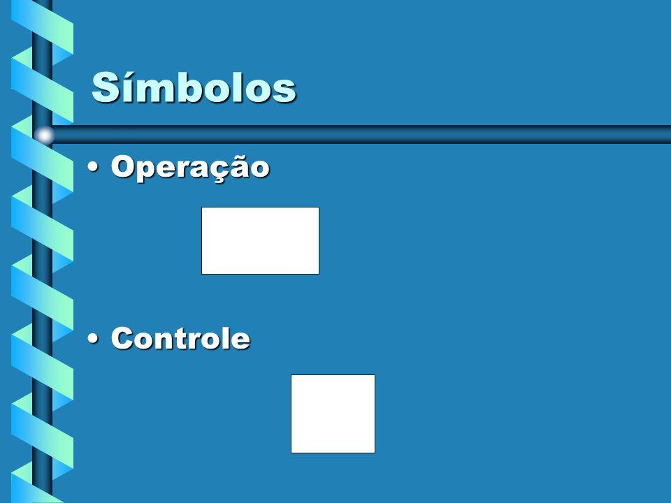 Símbolos OperaçãoOperação ControleControle