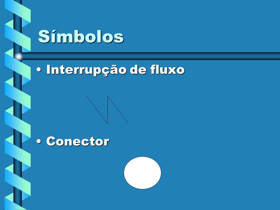 Símbolos Interrupção de fluxoInterrupção de fluxo ConectorConector