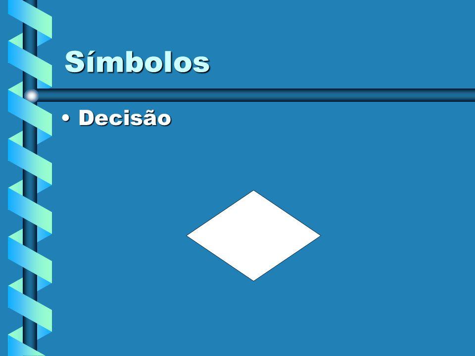 Símbolos DecisãoDecisão