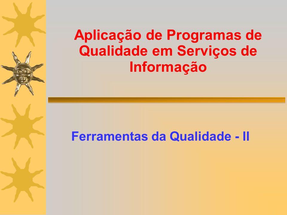 Aplicação de Programas de Qualidade em Serviços de Informação Ferramentas da Qualidade - II