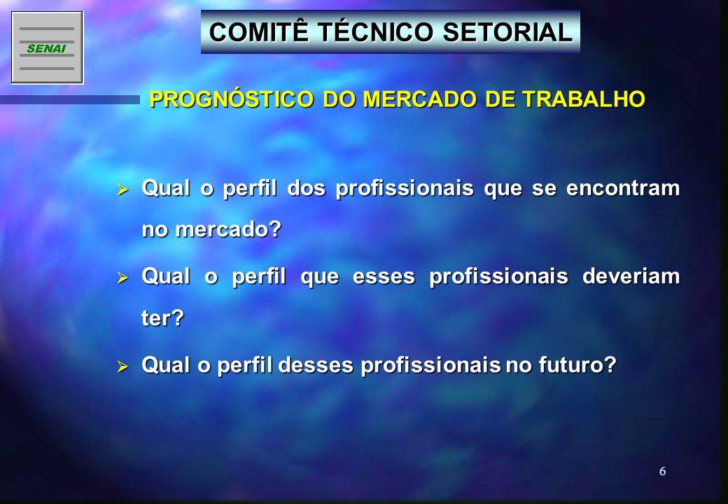 5 OBJETIVO Contribuir para a identificação e atualização permanente das competências profissionais dos trabalhadores.
