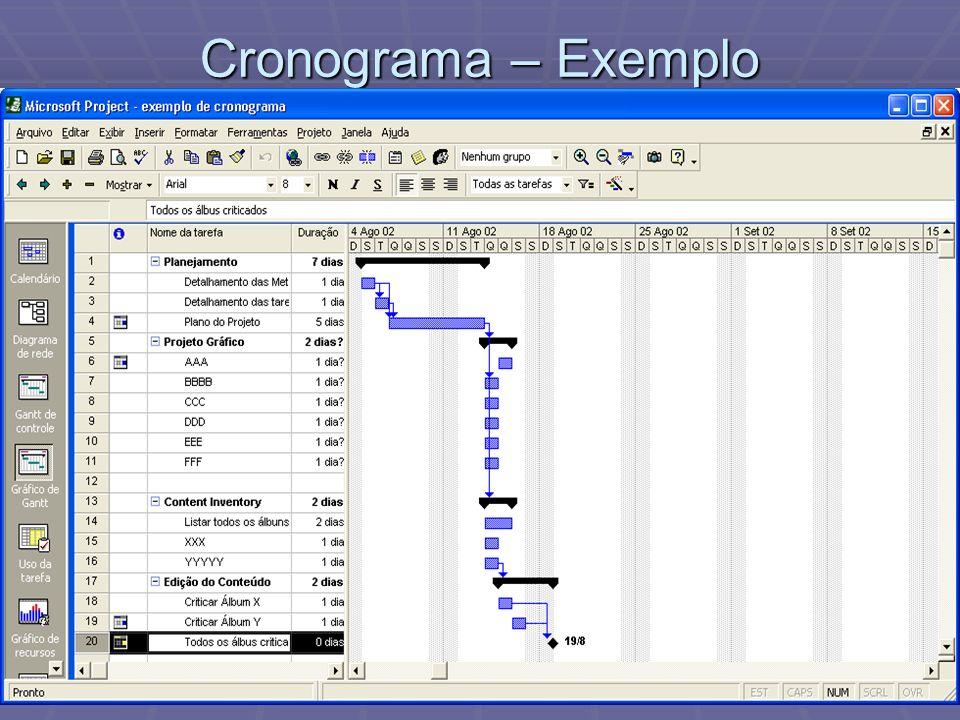 Aula 2Metodologia de Produção de Mídias Interativas16 Cronograma – Exemplo
