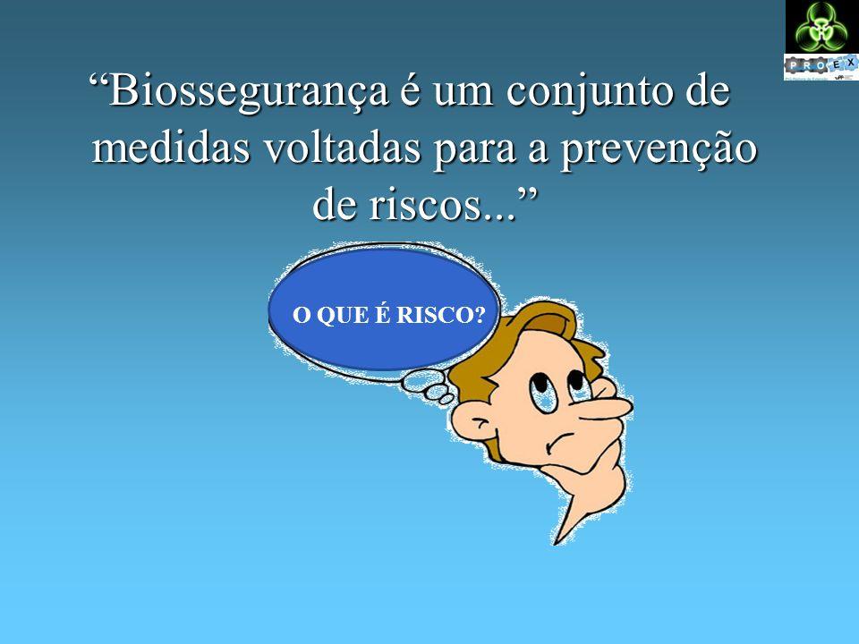 Biossegurança é um conjunto de medidas voltadas para a prevenção de riscos... O QUE É RISCO?