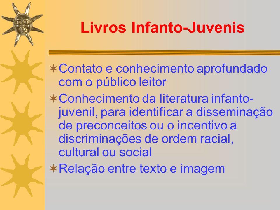 Livros Infanto-Juvenis Contato e conhecimento aprofundado com o público leitor Conhecimento da literatura infanto- juvenil, para identificar a dissemi