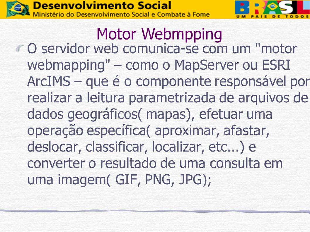 O servidor web comunica-se com um