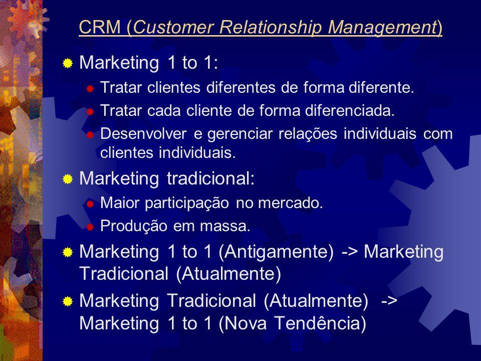 Marketing 1 to 1: Tratar clientes diferentes de forma diferente. Tratar cada cliente de forma diferenciada. Desenvolver e gerenciar relações individua