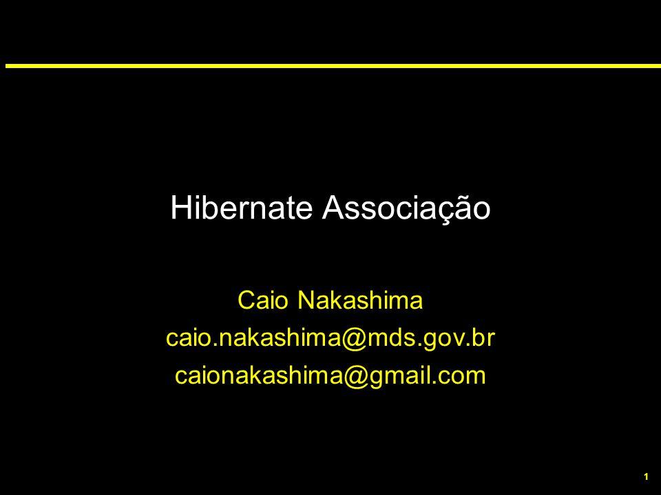 1 Hibernate Associação Caio Nakashima caio.nakashima@mds.gov.br caionakashima@gmail.com