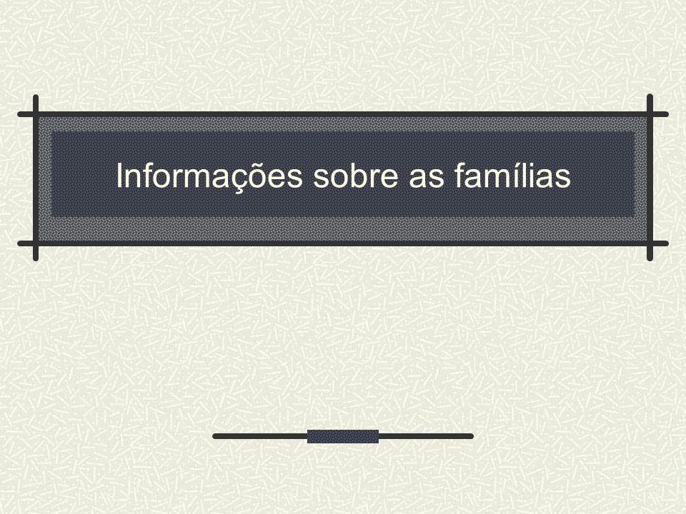 Informações sobre as famílias