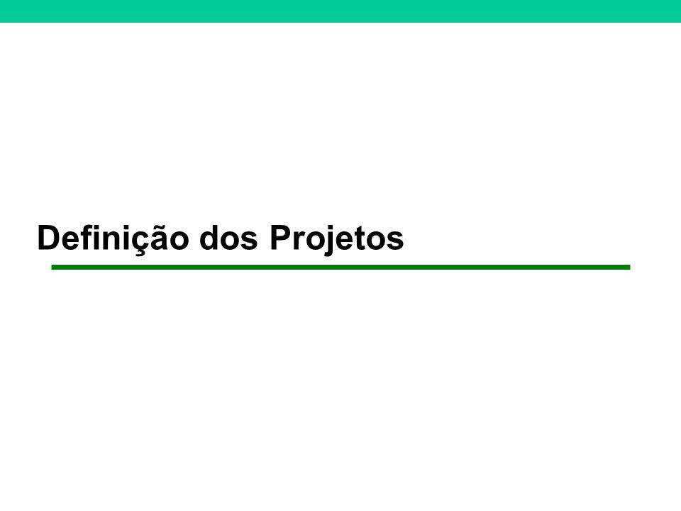 Definição dos Projetos