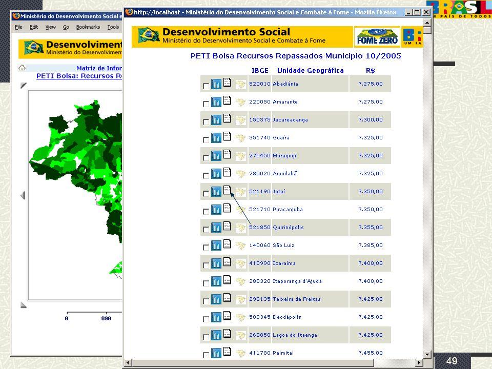 abril/2006 MDS/ Diretoria de Gestão da Informação/Coordenação de Recursos Informacionais 49