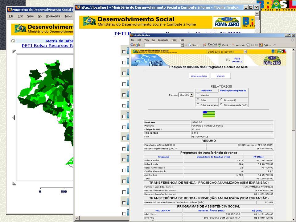 abril/2006 MDS/ Diretoria de Gestão da Informação/Coordenação de Recursos Informacionais 50