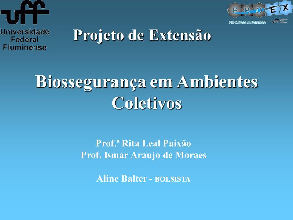 Biossegurança em Ambientes Coletivos Prof.ª Rita Leal Paixão Prof. Ismar Araujo de Moraes Aline Balter - BOLSISTA Projeto de Extensão