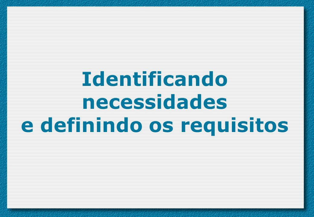 Identificando necessidades e definindo os requisitos