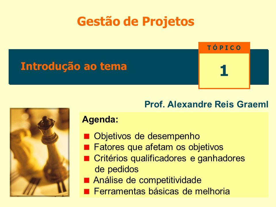 Introdução ao tema Gestão de Projetos Prof.