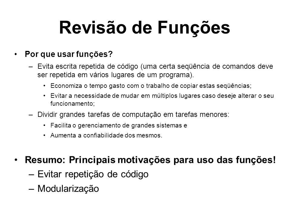 Vetores e Funções #include #define NUM_ALUNOS 3 float media ( float notas[], int n ) { int i = 0; float m = 0.0; for ( i = 0; i < n; i++ ) { m = m + notas[i] ; } m = m / n; return m; } int main( ) { float notas [NUM_ALUNOS]; float media_turma; int i; for ( i = 0; i < NUM_ALUNOS; i++ ) { printf ( Digite a nota do %d o.
