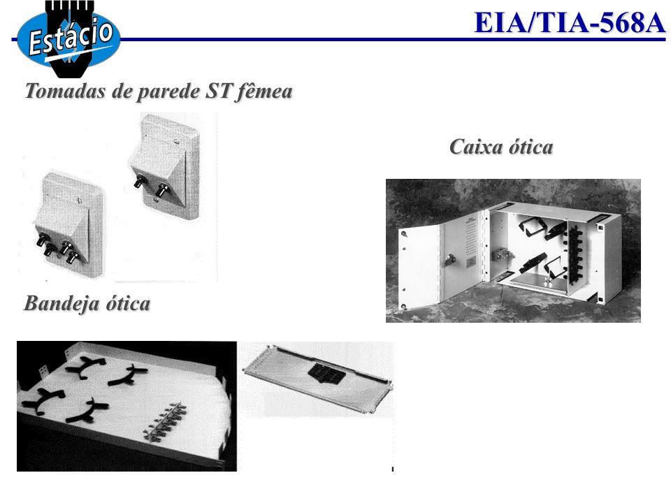 EIA/TIA-568A Tomadas de parede ST fêmea Bandeja ótica Caixa ótica