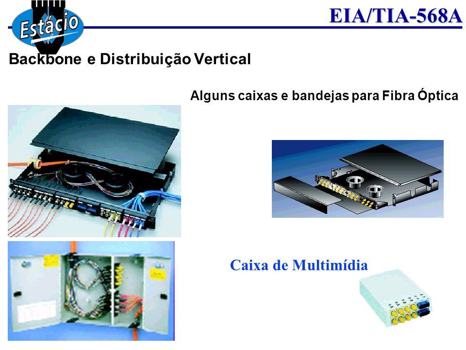 EIA/TIA-568A Caixa de Multimídia Alguns caixas e bandejas para Fibra Óptica Backbone e Distribuição Vertical