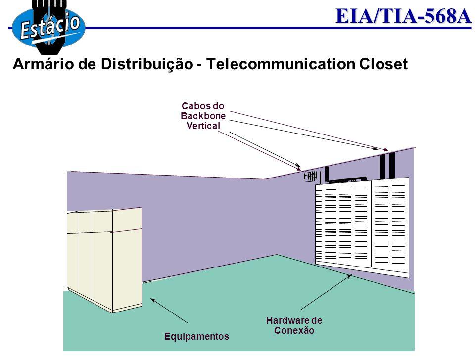 EIA/TIA-568A Armário de Distribuição - Telecommunication Closet Cabos do Backbone Vertical Equipamentos Hardware de Conexão