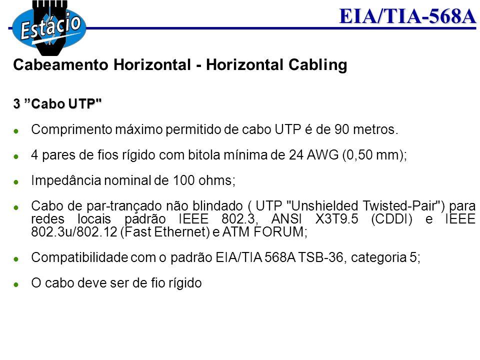 EIA/TIA-568A 3 Cabo UTP