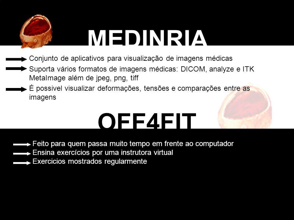 Conjunto de aplicativos para visualização de imagens médicas Suporta vários formatos de imagens médicas: DICOM, analyze e ITK MetaImage além de jpeg,