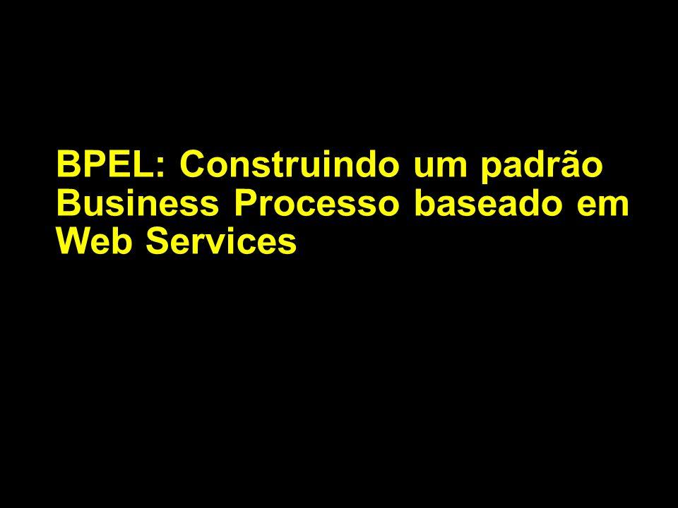 BPEL é um Web Service Sequencing Language Processos definem um fluxograma de coversação Conversação consiste na descrição de troca de mensagens WSDL.