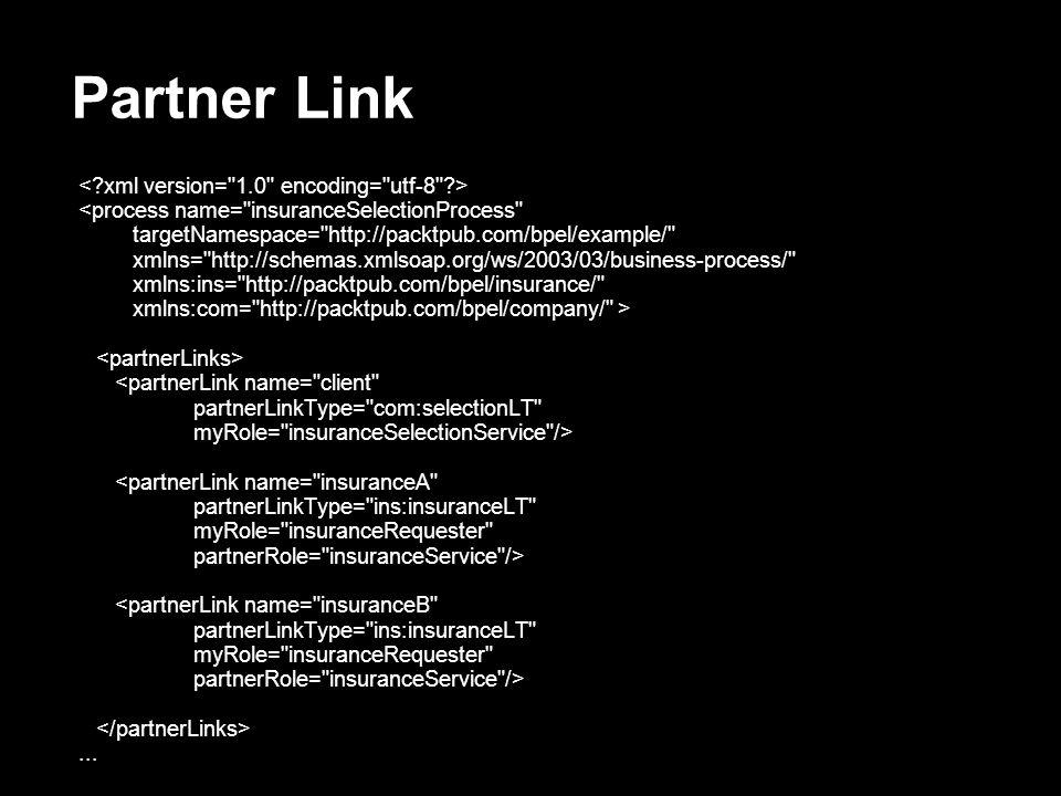 Partner Link <process name=