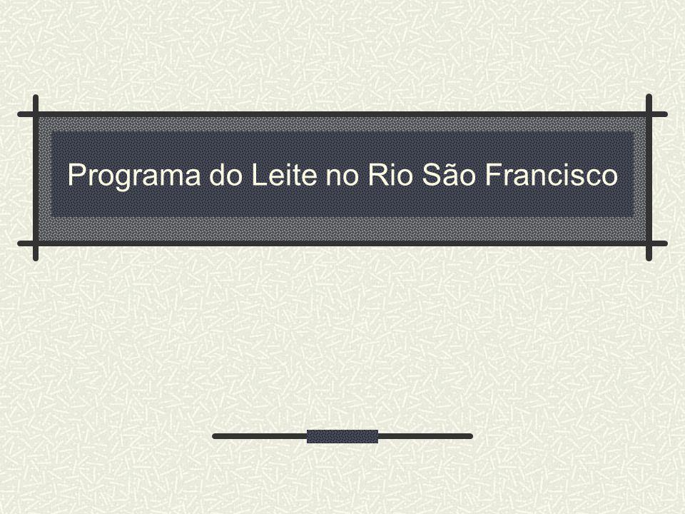 Programa do Leite no Rio São Francisco