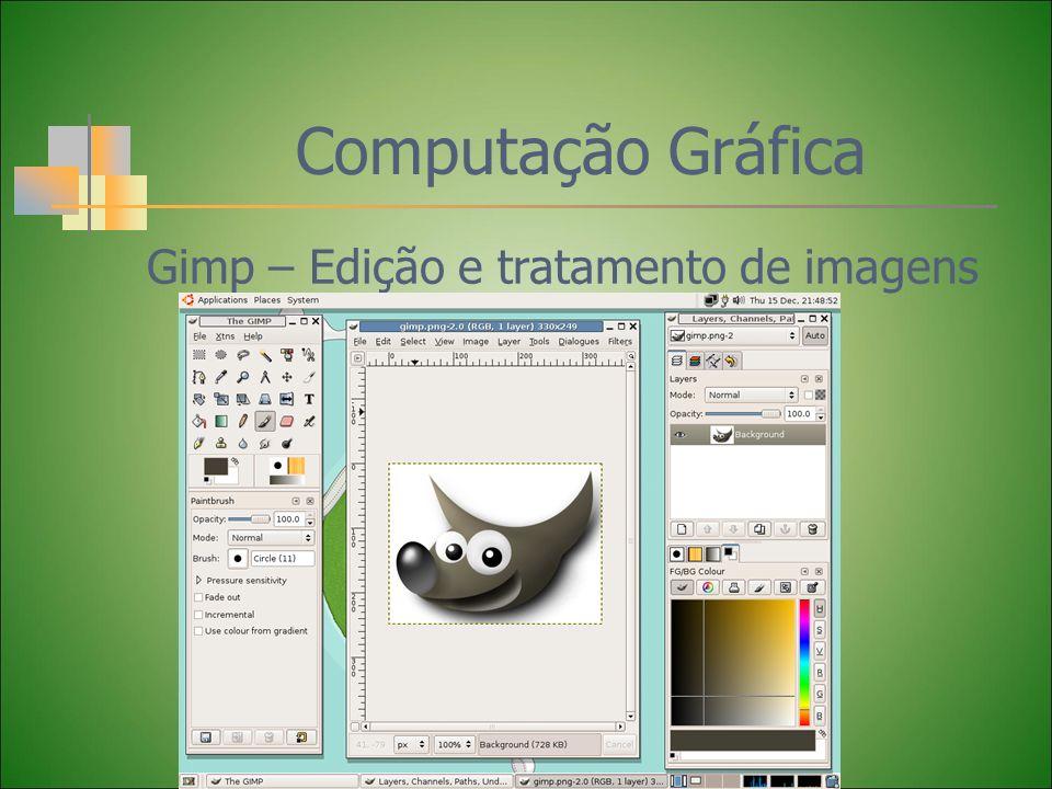 Computação Gráfica Gimp – Edição e tratamento de imagens