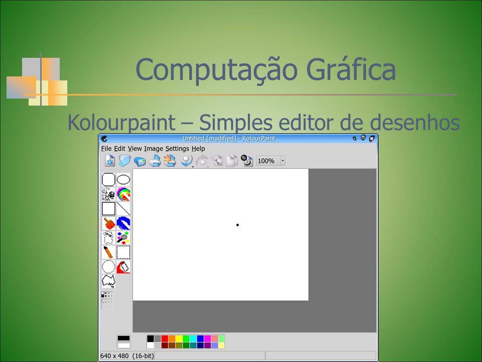 Computação Gráfica Kolourpaint – Simples editor de desenhos